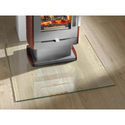 Plaque de sol verre clair carré 1000 x 1000 mm (4 angles droits)