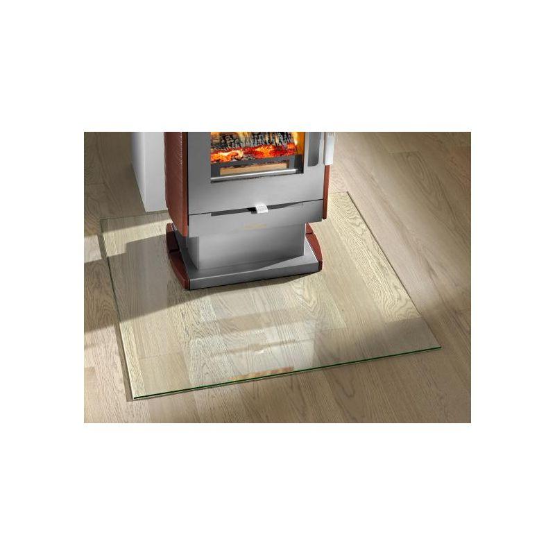 Plaque de sol verre clair carré 1000 x 1000 mm (4 angles arrondis)