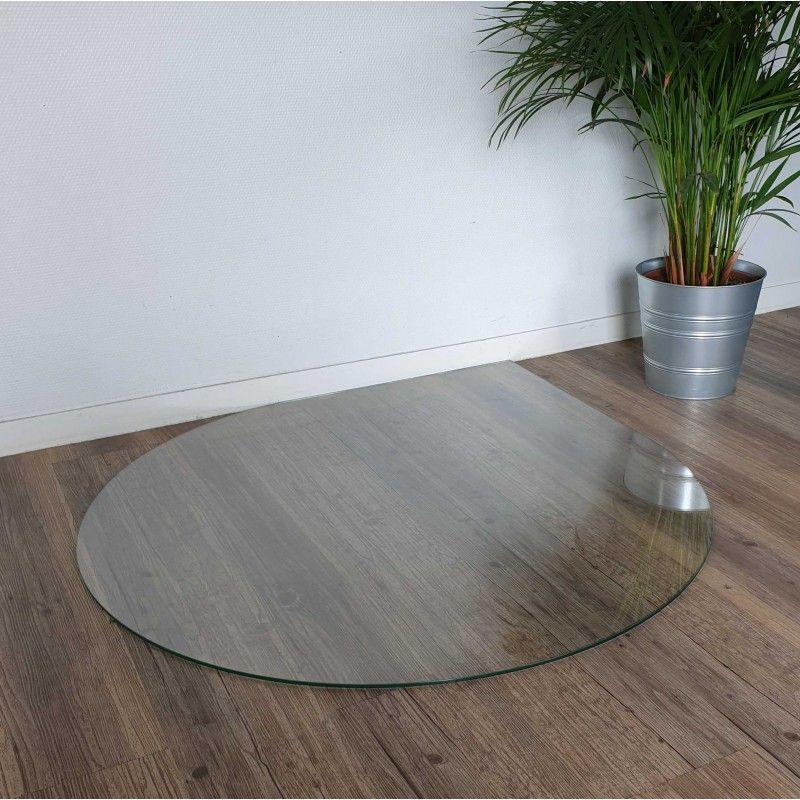 Plaque de sol verre clair goutte d'eau 1000 x 1000 mm, rayon 500 mm (réf 111591040)
