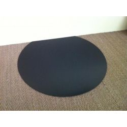 Plaque de sol en acier noir laqué Ronde diamètre 800 mm