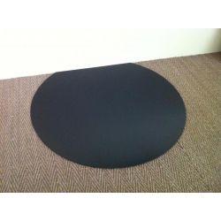 Plaque de sol en acier noir laqué Ronde diamètre 1000 mm