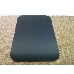 Plaque de sol en acier noir laqué Rectangle cintré 800 x 500 mm