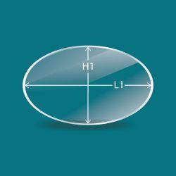 Vitre ovale sur mesure - 5mm