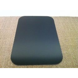Plaque de sol en acier noir laqué Rectangle 1250 x 800 mm
