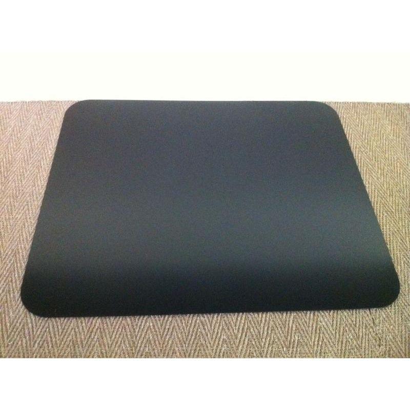 Plaque de sol en acier noir laqué Rectangle 1550 x 700 mm - angles droits