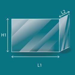 Vitre Pliée - Vermont Castings Vitre pliée - Dim. (107+107) x 265 mm