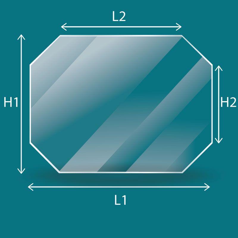 Vitre Rectangle 4 angles coupés - Godin ETIVAL