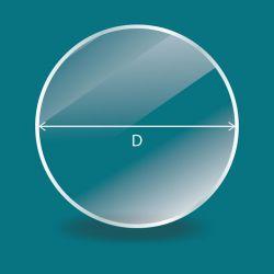 Vitre ronde sur mesure - 4mm