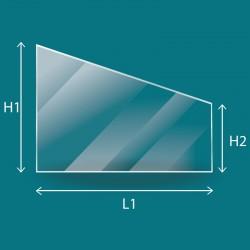 Vitre Trapèze rectangle sur mesure - 4mm