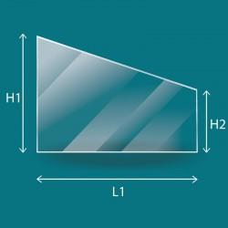 Vitre plate de forme Trapèze rectangle