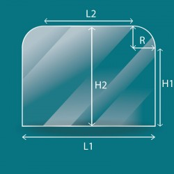 4mm autonettoyant - 2 angles arrondis