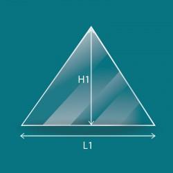 Flaches Glas in Form eines Dreiecks
