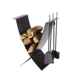 Serviteur + Rangement Bois Ekiss N3 3 Accessoires Noirs (N3) - H 50 Cm
