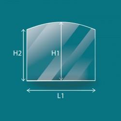 Rechteckig oder quadratisch geformtes Glas mit einer...