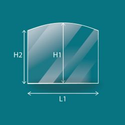 Vitre Rectangle cintré - Efel HARMONY 13 MIX