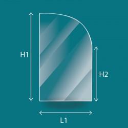 Vitre Rectangle cintré - Jotul F12 TD et F600 (porte droite)
