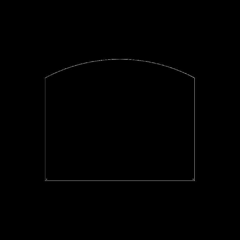 Plaque De Sol Arrondie 80X65 Cm - Ref DN-017.PSA2N3
