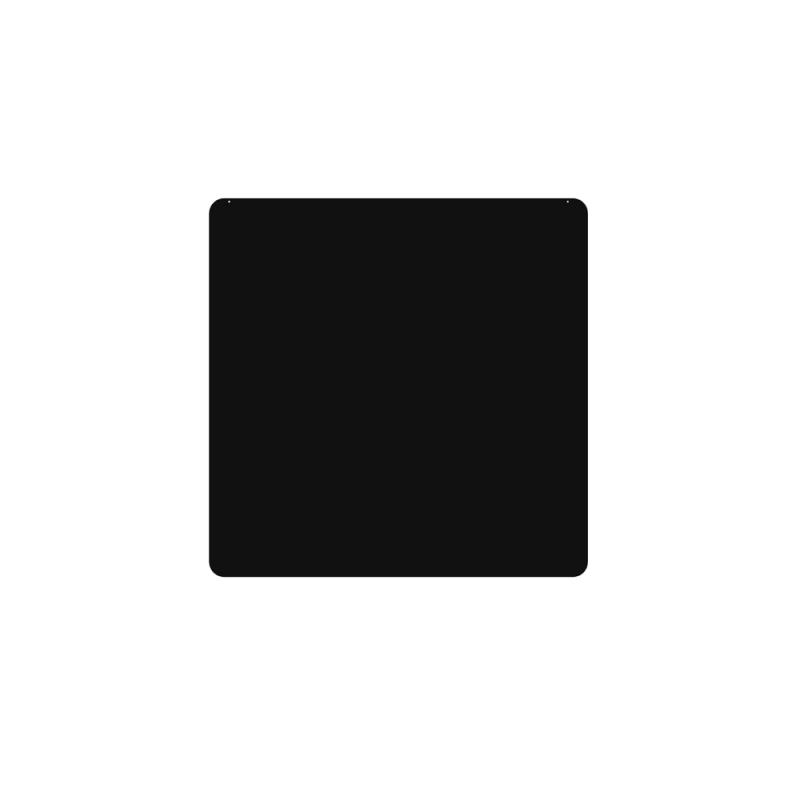 Plaque De Sol 75X75 Cm - 4 Angles Arrondis - Ref DN-017.PSR2N3