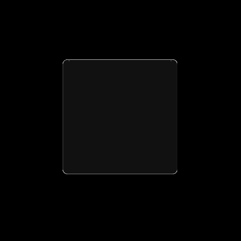 Plaque De Sol 100X100 Cm - 4 Angles Arrondis - Ref DN-017.PSR5N3