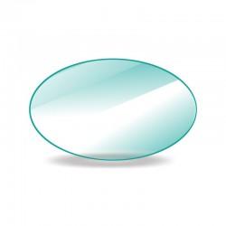 Vitre de forme ovale